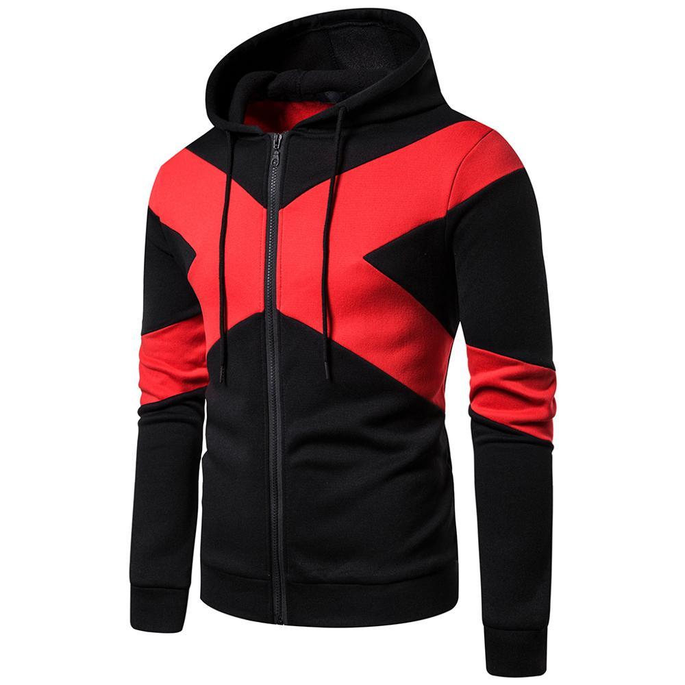 Spring Autumn Man Hoodies Sweatshirts Patchwork hip hop Long Sleeve Sweatshirt Fashion Blouse Shirt Dropshipping