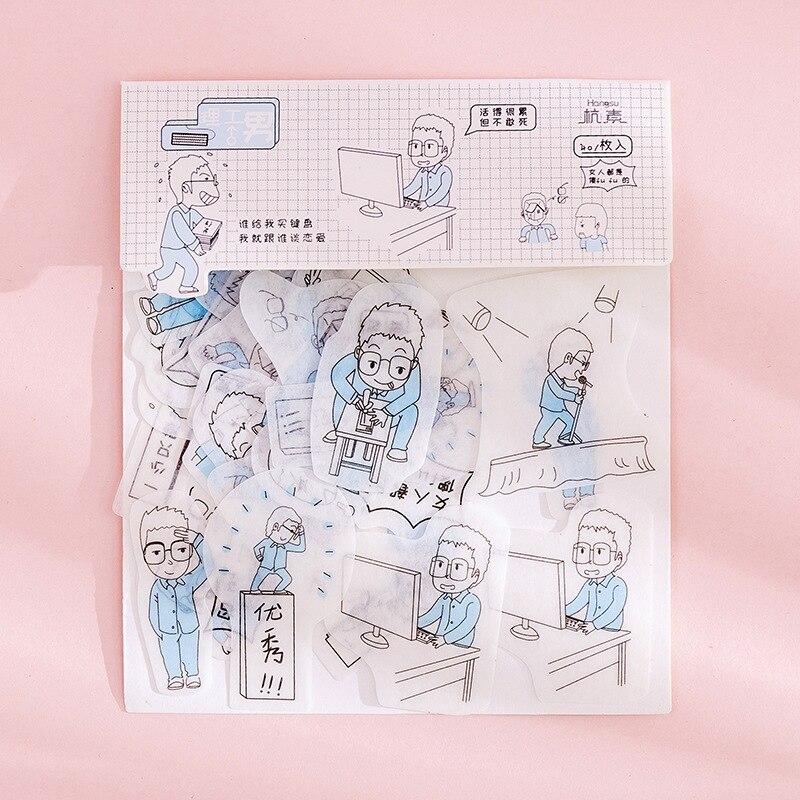 80 шт./пакет японская Канцелярия Стикеры s милый кот липкий Бумага Kawaii ПВХ дневник наклейка с медведем для украшения дневник в стиле Скрапбукинг - Цвет: Розово-красный