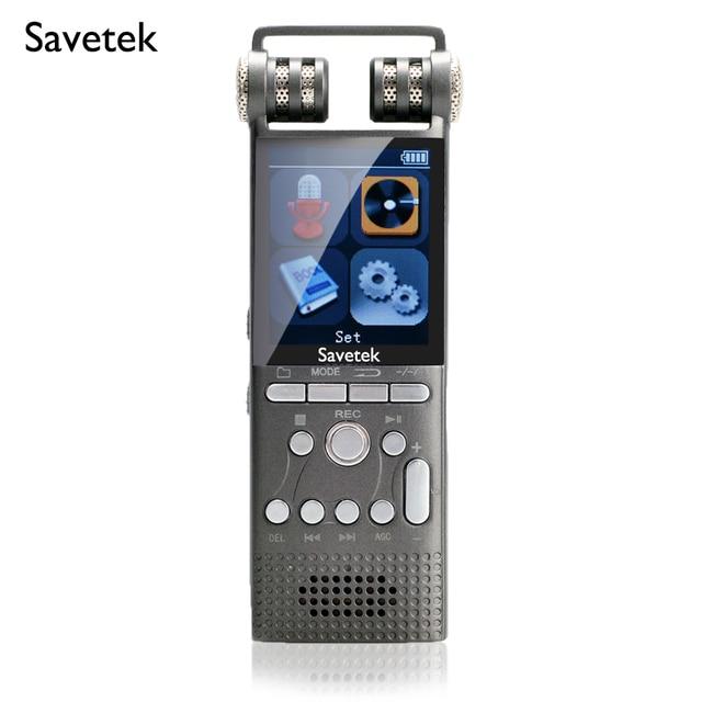 전문 음성 활성화 디지털 오디오 보이스 레코더 8 기가 바이트 16 기가 바이트 USB 펜 논스톱 100hr 녹음 PCM 1536Kbps Hifi MP3 플레이어