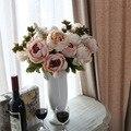 Artificial flores artificiais 13 peônia estilo europeu casa mesa de jantar decoração falso buquê de flores casamento seda festa de flores