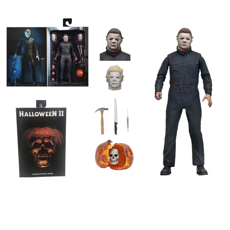 Image 5 - 18CM Original NECA New Halloween Ultimate Real clothes Michael Myers Action Figure PVC Joint movable collection toy giftAction & Toy Figures   -
