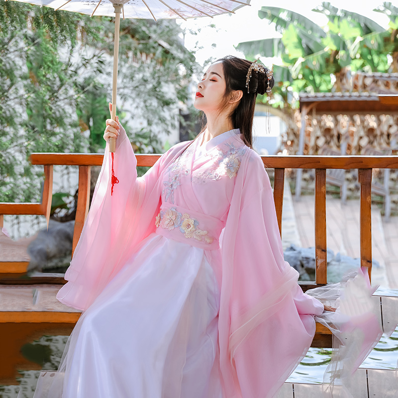 2020 Printing Dance Costume Women Hanfu Traditional Wear For Singers Folk Festival Rave Outfit Oriental Performance Clothing