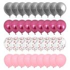 40pcs Pink and Silve...