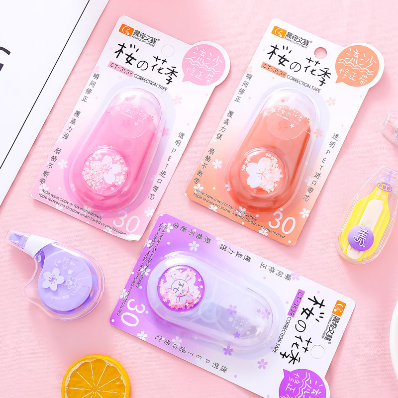 1PC Cute Plastic Corrector Tape With Bookmark Kawaii Lovely Cherry Correction Tape For Kids Korean Stationery School Supplies