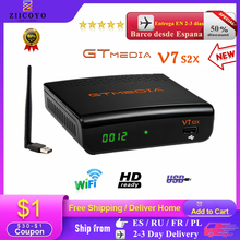 Nieuwe Collectie Gtmedia V7S2X DVB S2 Satellietontvanger Met Usb Wifi Upgrade Van Gtmedia V7s Hd Full Hd Gtmedia V7 S2x geen App
