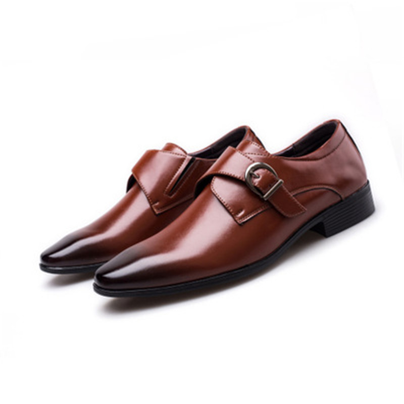 Image 2 - Size 45 46 47 48 Men Business Dress Shoes Retro Patent Leather Oxford Shoes For Male Stylish Elegant Metal Buckle Wedding ShoesFormal Shoes   -