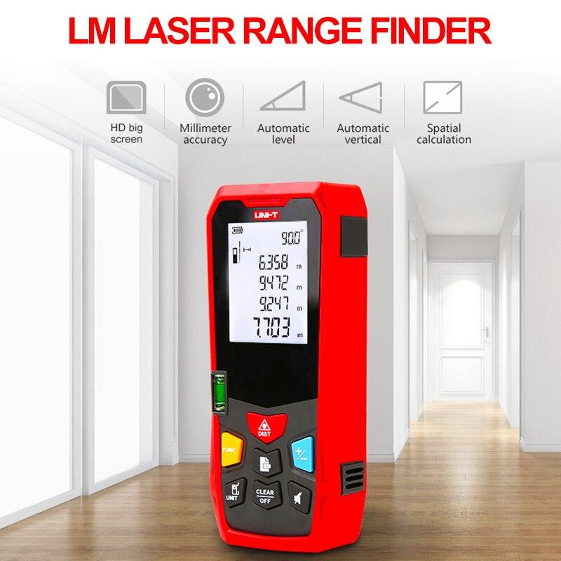 UNI-T LM40/LM50/LM100 лазерный дальномер ручной Мини Лазерная дальномерная лента дальномер прибор для измерения расстояния 50 м