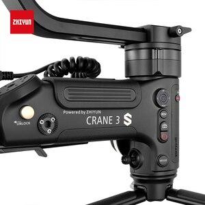 Image 4 - Zhiyun oficjalny żuraw 3S 3S Pro 3S E 3 osiowy ręczny stabilizator Maxload 6.5KG dla czerwonego kina aparat DSLR kamery wideo Gimbal