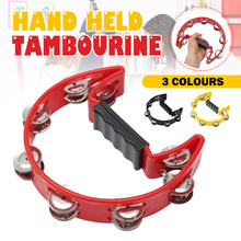 Drum-Instruments Tambourine Jingle-Percussion Companion-Accessories Hand-Foot Compact