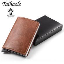 Taihaole держатель кредитных карт кошелек для мужчин и женщин