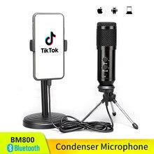 Yükseltilmiş versiyonu bm 800 kondenser mikrofon stüdyo kitleri BM800 usb'li mikrofon için PC bilgisayar telefonu Karaoke Tik Tok kayıt