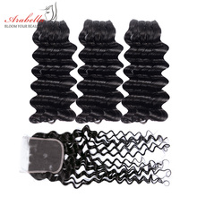Arabella Supper Double Drawn Deep Wave Hair Bundles With Lac