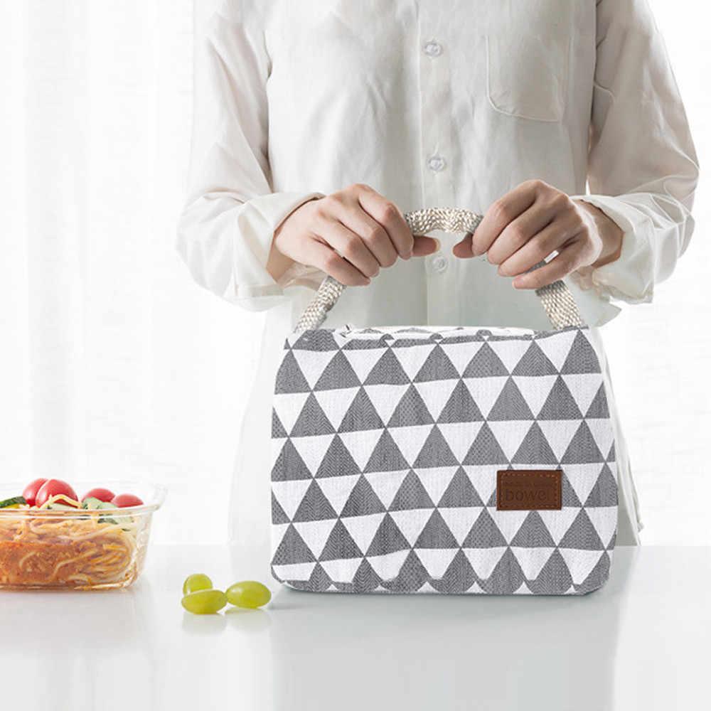C Tas Makan Siang Segar Isolasi Dingin Bal Termal Oxford Tote Terisolasi Tahan Air Kanvas Kotak Rekreasi Piknik Tas Lunchbox 1 Pc j30