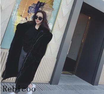 Oversized Winter Faux Fur Coat Women Parka Long Warm Faux Fur Jacket Coats Hoodies Loose Winter Coat Outwear casaco feminino 13
