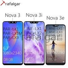 TrafalgarจอแสดงผลสำหรับHuawei Nova 3จอแสดงผลLCD Nova 3e ANE LX3 INE LX2หน้าจอสัมผัสสำหรับHuawei Nova 3iจอแสดงผลLCDกรอบ