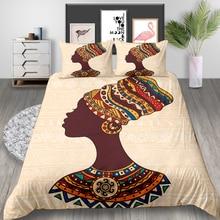 Juego de cama para mujer india, tamaño King, creativo, Vintage, funda nórdica, doble, doble, individual, juego de cama de diseño único