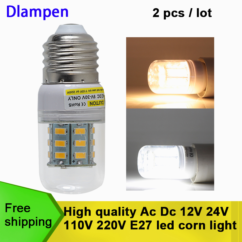 <font><b>bombilla</b></font> <font><b>led</b></font> e27 3W Ac Dc 12v to 24v 5730 light 12 <font><b>24</b></font> <font><b>V</b></font> 110 220 volts small corn bulb energy saving lamp 360 degree home lights image