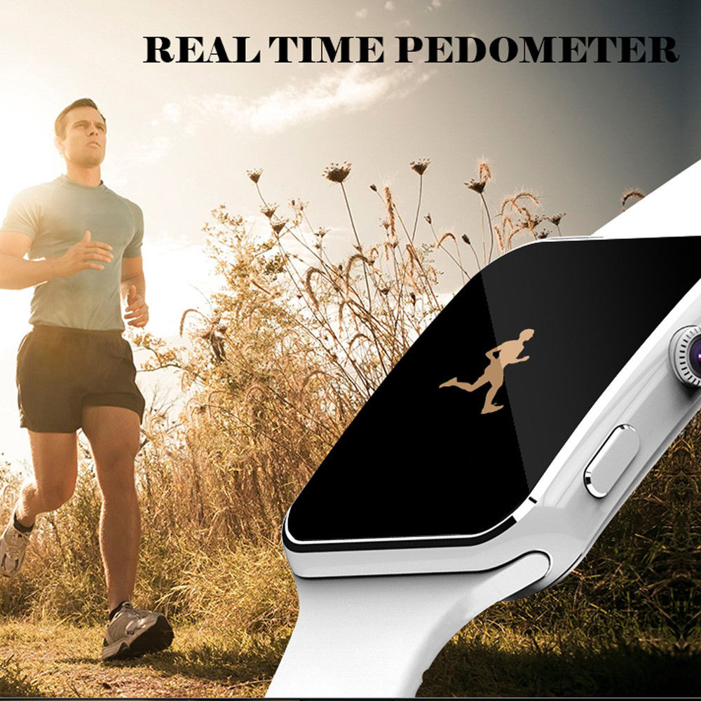 Fitness Watches Camera Support Touch-Screen Bluetooth Passometer X6 with SIM Tf-Card