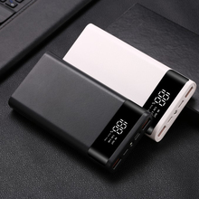 Portátil Dual USB DIY caja del Banco de energía 6x18650 batería LED de carga de luz Digital de la pantalla del Banco de la energía Kit cargador externo