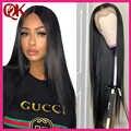 Perruque Lace Frontal wig naturelle brésilienne Remy lisse QueenKing | Densité 130%, perruque Lace Front wig, pre plucked, pour femmes africaines