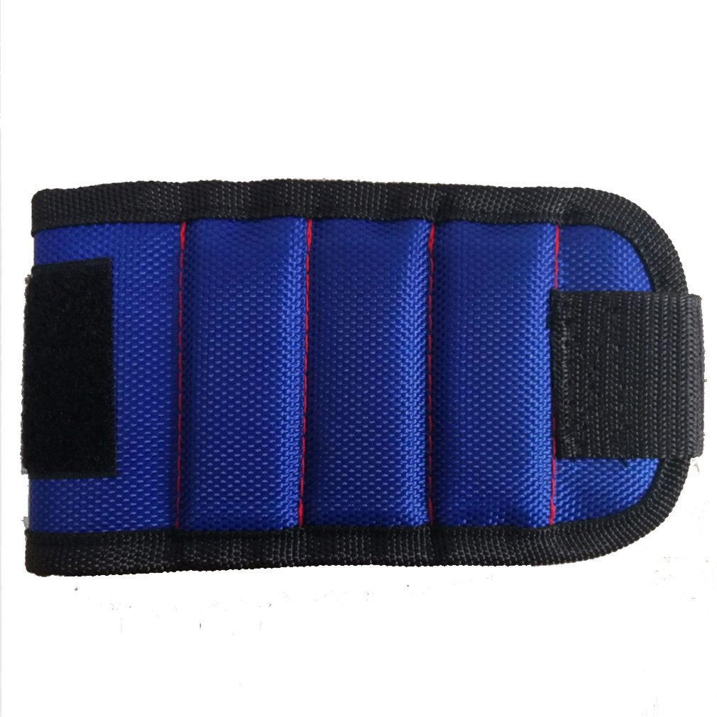5 Row Super Magnetic Wristbands Holding Tools Wrist Strap Pickup Repair Tools Wrist Storage Tool Bag 680D Oxford Polyester
