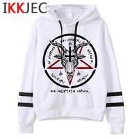 Satan Lucifer Dämon Death Scary Evil Hoodies Männer/frauen Satanism Grim Reaper Baphomet Sweatshirt Hip Hop Horror Hoody Männlichen /weibliche