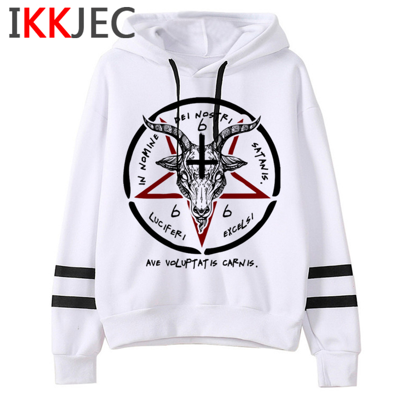 Satan Lucifer Demon Death Scary Evil Hoodies Men/women Satanism Grim Reaper Baphomet Sweatshirt Hip Hop Horror Hoody Male/female