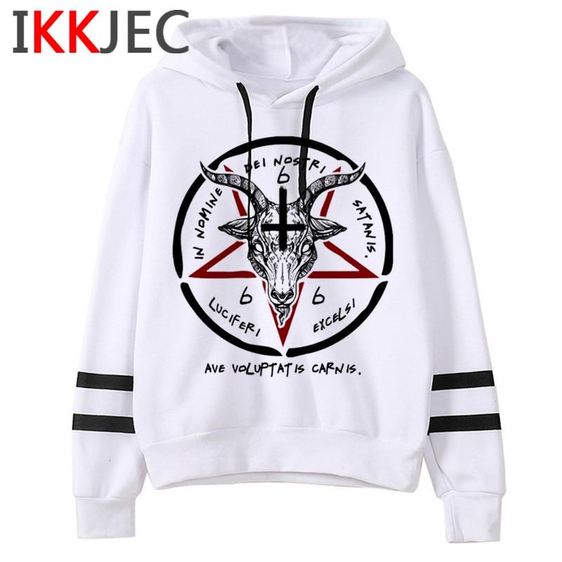 Satan Lucifer Demon Death Scary Evil Hoodies Men/women Satanism Grim Reaper Baphomet Sweatshirt Hip Hop Horror Hoody Male/female