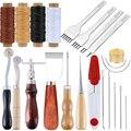 KAOBUY Professionelle Leder Handwerk Werkzeuge Kit Hand Nähen Stitching Schlag Schnitzen Arbeit Groover Set Zubehör DIY Werkzeug Set