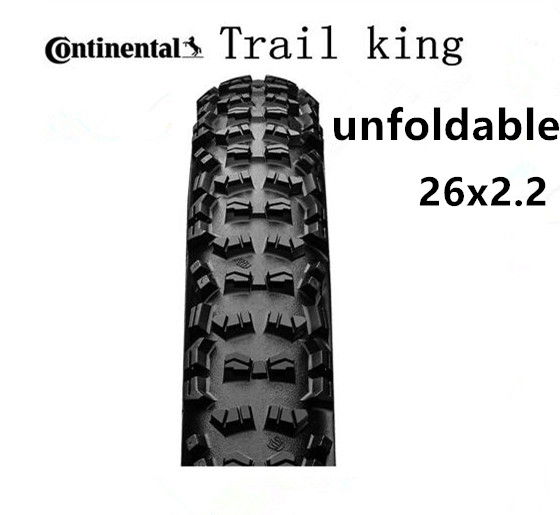 Continental TyreTrail king Tire Mountain Bicycle <font><b>26x2.2</b></font> in Tubular Tire MTB Rigid Black Unfoldable tire image