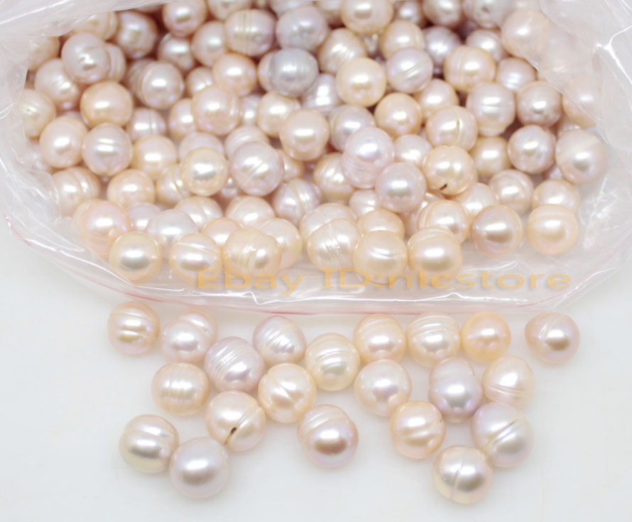 Купить с кэшбэком 100PCS 10mm Oval Natural Pink Lilac Grwoth Real Pearl Stone Loose stones