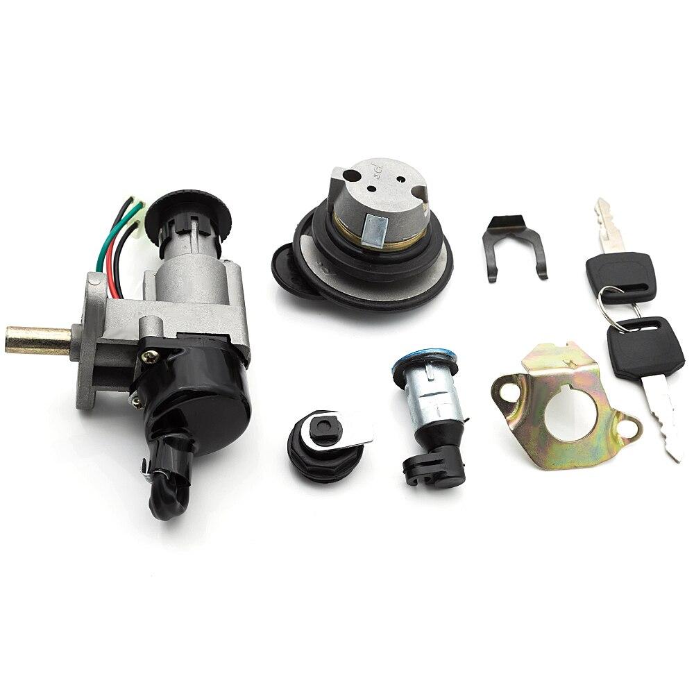 Ignition Switch Key Lock Gas Tank Cap Set For GY6 50cc Jonway Taotao Roketa