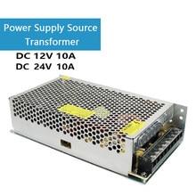 Ac 110v 220v para dc 12v/24v 10a 120w transformador da fonte de alimentação para a tira conduzida do atuador linear do motor