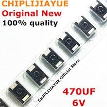 100PCS 100% חדש 470UF 6V 470 6 470 6 6.3V SMD טנטלום קבלים פולימר POSCAP סוג D שחור 7343 חדש ומקורי