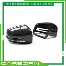 Para mercedes w204/w212/w218/w207/x204/w176/w221 2008 up (seco) carbono/abs espelho de carbono capa corpo espelho retrovisor lateral tampas