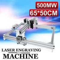 DC 12V Mini 500MW Blue Laser Engraving Engraver Machine 50X65cm DIY Desktop Wood Cutter/Printer/Power Adjustable+ Laser With CD