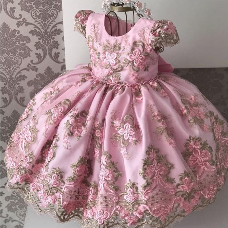 Christmas New Year Dress Girl Kid Elegant Wedding Dress Lace Gown Children First Communion Dresses Teen Girls 8 10 Year Birthday 1