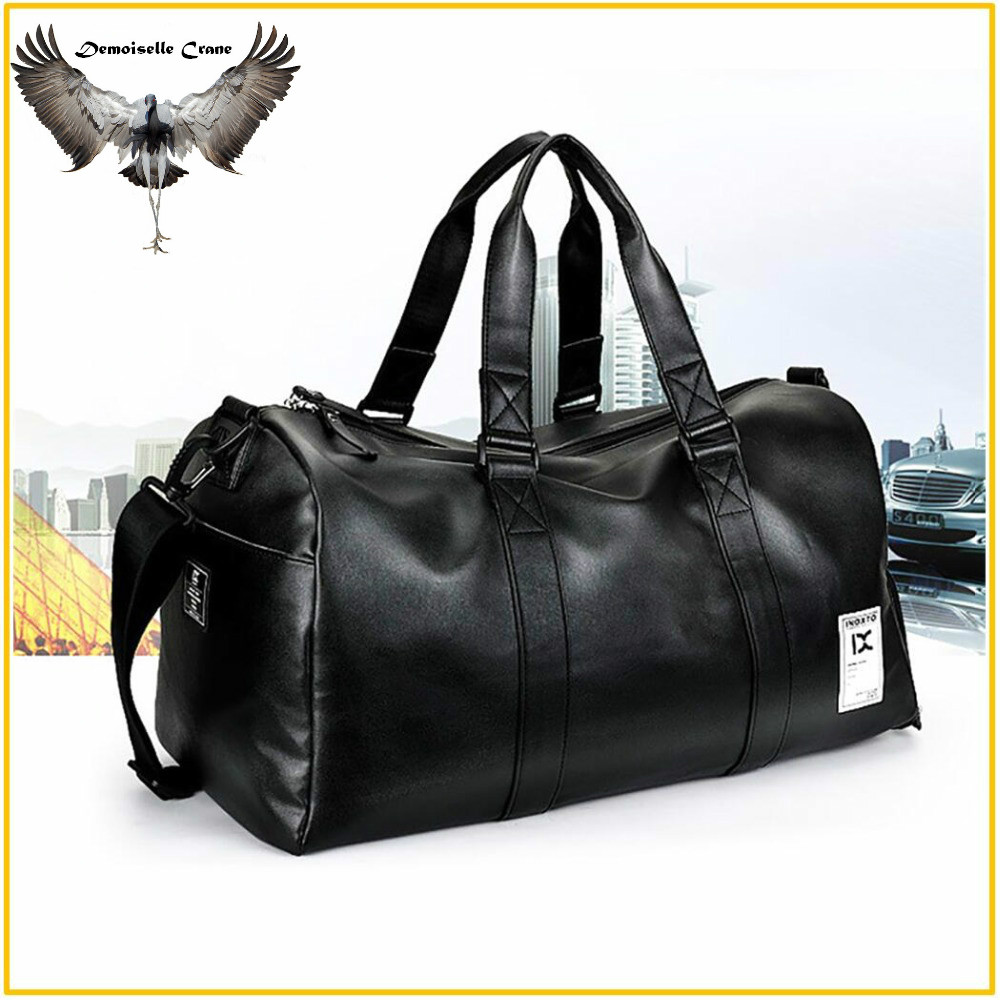 FX High Quality PU Leather Sports Bags Gym Bags Man Women Classic Sports Hand Bag Fitness Travel Bags Workout Bag Shoes Storage