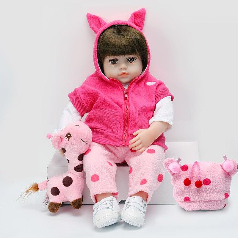 reborn boneca adorável macio do bebê bonecas