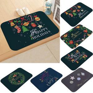 Anti-slip Waterproof Christmas Doormat Bathroom Kitchen Floor Mat Carpet Cushion