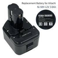 12V 3000mAh Ni-Mh Cordless Bateria ferramenta de Poder para Hitachi EB1214S EB1220HL EB1222HL EB1226HL EB1230HL EB1230R EB1230X
