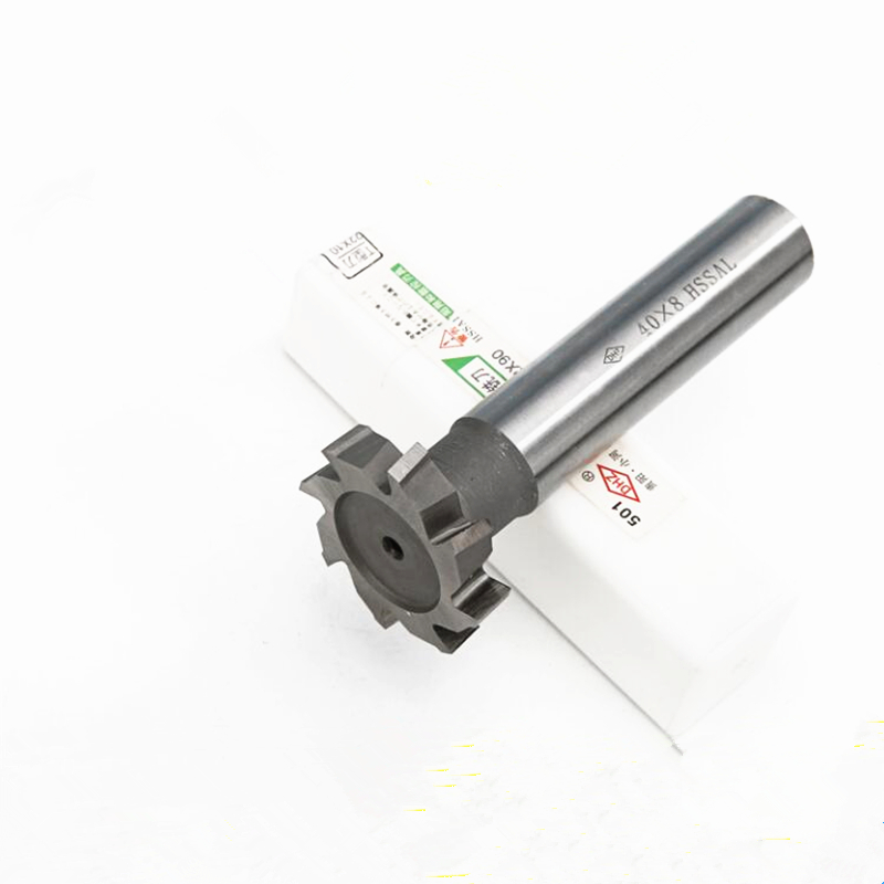 T Slot Milling Cutter For Metal HSS Woodruff Key Seat Router Bit Mill, Thickness 2-10mm Diameter 10-40mm