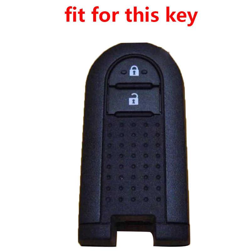 Auto Key Case Cover Voor Toyota Rush/Daihatsu Tanto Custom LA600S Moovecanvas LA800S Afstandsbediening Silicagel Klep cap
