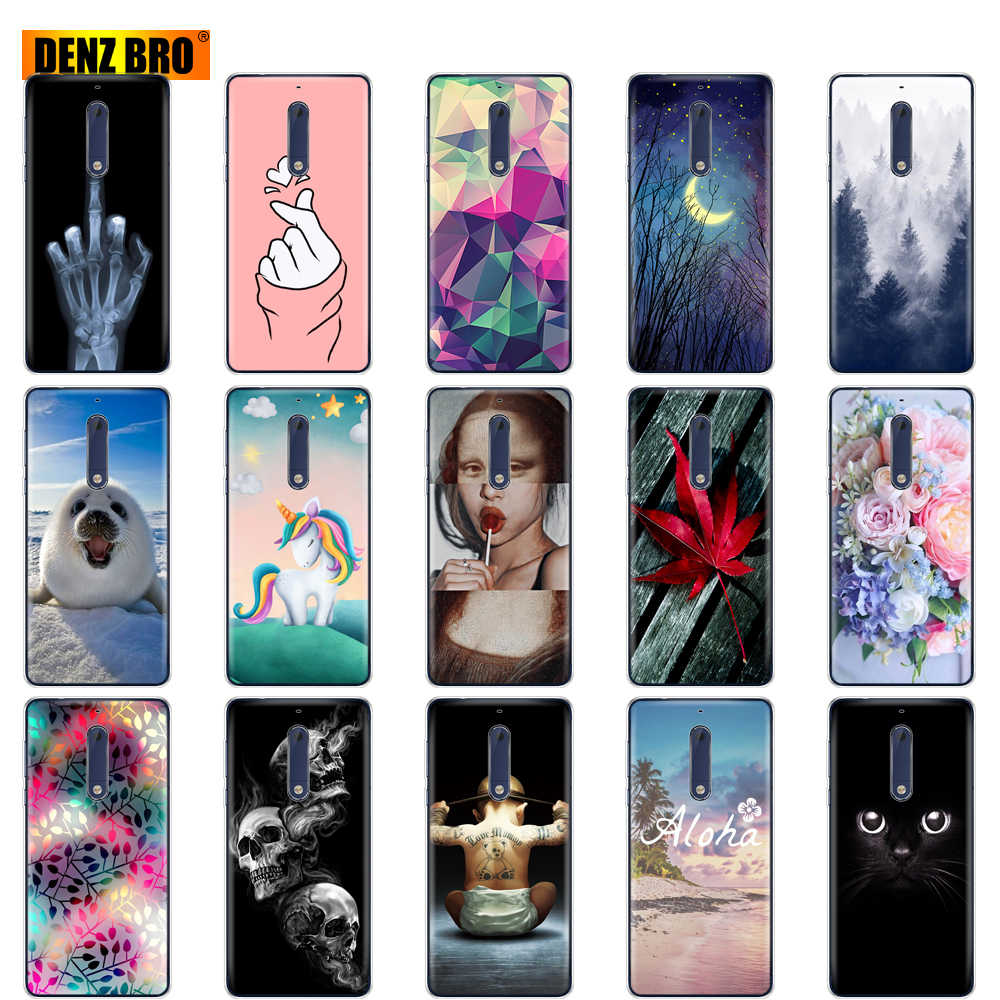 For Nokia 1 2 2.1 3 3.1 5 5.1 plus 2018 case Silicone Soft TPU back Phone Case cover 360 full shockproof Coque bumper housing