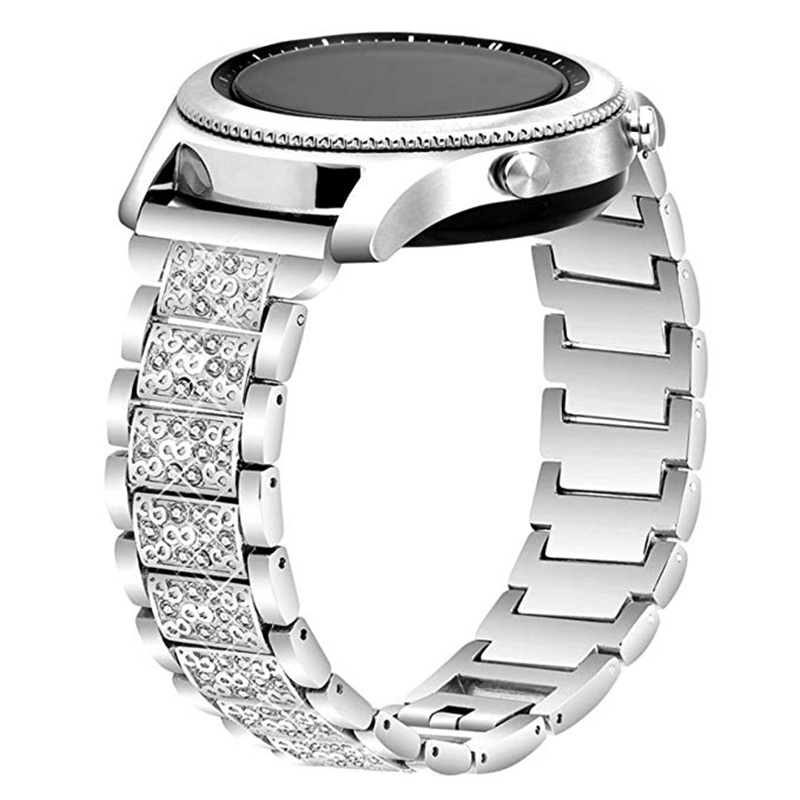 ASHEI Bling Bracelet Strap For Samsung Gear S3 Galaxy Watch 46mm 42mm Active Band 22mm 20mm Stainless Steel Jewelry Watchbands