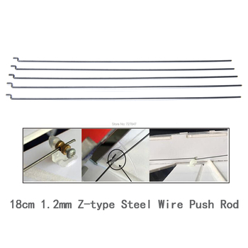 5pcs/lot 20.3cm 1.2mm Z-type Steel Wire Push Rod Push Pull Rod Pushrod For SU27 KT Board RC Airplane aircraft image