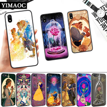 Beauty Beast Rose Princess Silicone Soft Case for Redmi 4A 4X 5 Plus 5A 6 Pro 6A 7 7A S2 Go K20 Note Prime 8