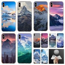 soft silicone Case For iPhone 11 Pro 7 8 6 6s Plus XR XS Max cover Bag 5 5S SE 2020 Funda Etui Mount Everest(China)