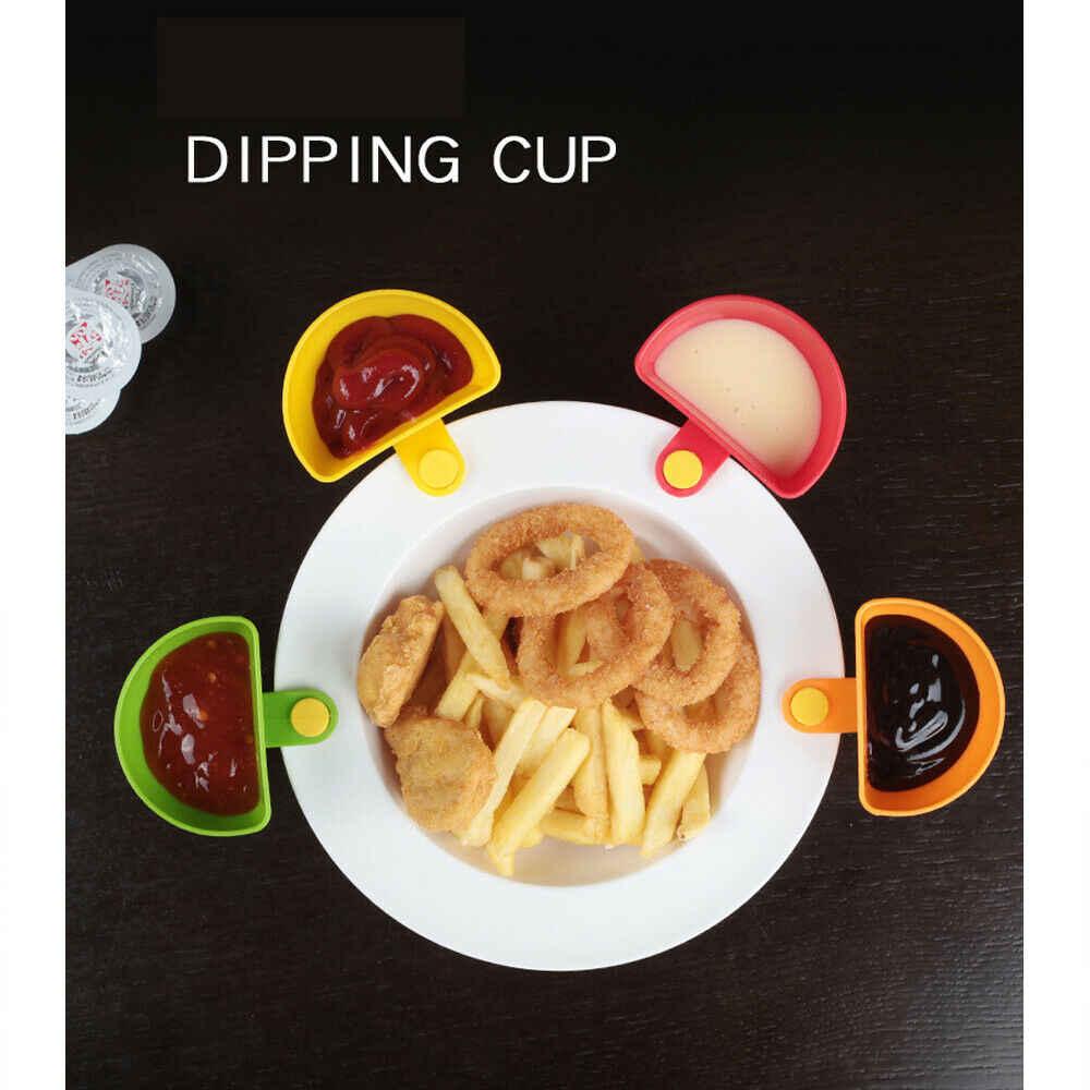 Alat Dapur Dipzy Klip Saus Pemegang Ramuan Spice Alat Makanan Saus BBQ Biru Ranch Dressing Peti Kit
