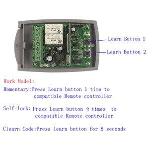 Image 3 - 12 V 48 V 24V 2 チャンネルゲートガレージドアリモートコントロールスイッチ受信機固定コードとローリングコード受信機スイッチ 433 MHz/315 MHz